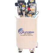 California Air Tools CAT-10010LFDCAD, 1HP, Single-Stage Comp, 10  Gal, Vert., 125PSI, 3CFM, 1PH 110V