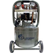 California Air Tools Portable Air Compressor CAT-10020, Ultra Quiet & Oil Free, 110V, 2HP, 10 Gal