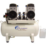 California Air Tools Duplex Air Compressor 2 Dryers & 2 Aftercoolers CAT-1740D, 4HP, 220V, 17 Gal