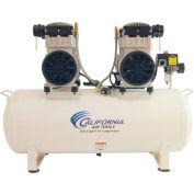 California Air Tools CAT-20040CAD, 4HP, Duplex Comp, 20 Gal, Horiz., 125PSI, 10.6CFM, 1PH 230V