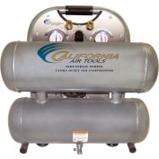 California Air Tools CAT-4610ALFC, 2HP, Hand Carry, 4.6 Gallon,Twin Stack,125 PSI,3 CFM,1-Phase 110V