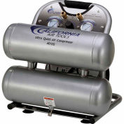 California Air Tools CAT-4610S, 2 HP, Hand Carry, 4.6 Gallon,Twin Stack,120 PSI,2.2 CFM,1-Phase 110V