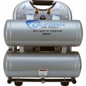 California Air Tools CAT-4620AC, 2 HP, Hand Carry,4.6 Gallon,Twin Stack,125 PSI,5.3 CFM,1-Phase 110V