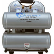 California Air Tools CAT-4620AC-22060,2HP,Hand Carry,4.6 Gal,Twin Stack,125 PSI,5.3 CFM,1-Phase 220V