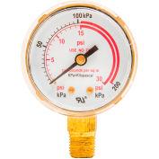 """Industrial Pro® 2"""" Pressure Gauge, 1/4"""" NPT, 30 PSI"""
