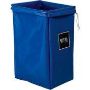 Hamper Bag, Blue Vinyl, Standard Pocket