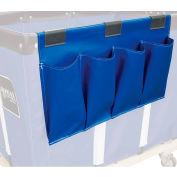 Janitorial Supply Organizer, Blue Vinyl, 4 Pockets