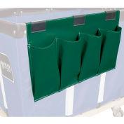 Janitorial Supply Organizer, Green Vinyl, 4 Pockets