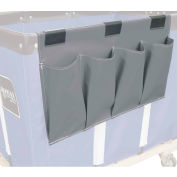 Janitorial Supply Organizer, Gray Vinyl, 4 Pockets