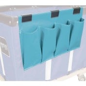 Janitorial Supply Organizer, Light Blue Vinyl, 4 Pockets