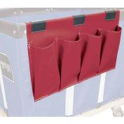 Janitorial Supply Organizer, Maroon Vinyl, 4 Pockets