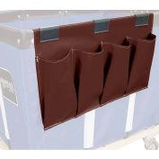 Janitorial Supply Organizer, Brown Vinyl, 4 Pockets