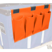 Janitorial Supply Organizer, Orange Vinyl, 4 Pockets