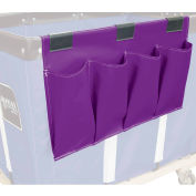 Janitorial Supply Organizer, Purple Vinyl, 4 Pockets