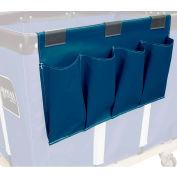 Janitorial Supply Organizer, Navy Blue Vinyl, 4 Pockets