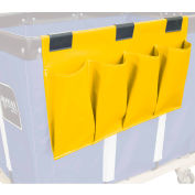 Janitorial Supply Organizer, Yellow Vinyl, 4 Pockets