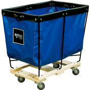 Elevated Basket Truck, 3 Bu, Blue Vinyl, Wood Base, All Swivel