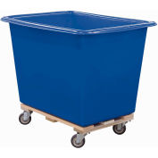 Royal Basket-Poly Truck, 8 Bu, Blue, Wood Base, All Swivel - R08-BLX-PTA-4UNN