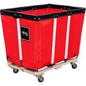Perm Liner Truck, 10 Bu, Red Vinyl, Wood Base, 2 Rg/2 Sw