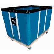 Heavy Duty Basket Truck, 20 Bu, Blue Vinyl, Wood Base, 2 Rg/2 Sw