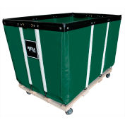 Heavy Duty Basket Truck, 24 Bu, Green Vinyl, Wood Base, 2 Rg/2 Sw