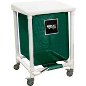 PVC Hamper, 24 Gal, Sgl, Green Mesh Liner, 2 Sw/2 Sw Lock, with Foot Pedal