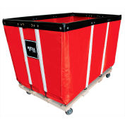 Heavy Duty Basket Truck, 24 Bu, Red Vinyl, Wood Base, 2 Rg/2 Sw