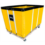 Heavy Duty Basket Truck, 24 Bu, Yellow Vinyl, Wood Base, 2 Rg/2 Sw