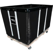 "24 BU-Heavy-Duty Basket Trucks By Royal - Vinyl Liner - 54""Lx34""Dx37.5""H 4 Swivel Casters-Black"