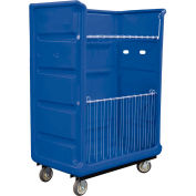 Royal Basket-Bulk Turnabout Truck, 48 Cu Ft, Blue, Wire Shelves, 2 Rg/2 Sw - R48-BLX-TAC-6UNN