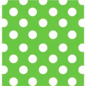 """Gift Wrap Paper, Lime Sunny Dots, 100'L X 24""""W"""
