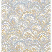 """Gift Wrap Paper, Gold & Silver Feathers, 833'L X 24""""W"""