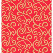 """Gift Wrap Paper, Scrolled Hearts, 833'L X 30""""W"""