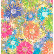 """Gift Wrap Paper, Gilded Daisies, 417'L X 24""""W"""