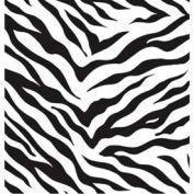 "Gift Wrap Paper, Zebra Stripes, 833'L X 30""W"