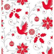 """Gift Wrap Paper, Skandia Dove, 100'L X 24""""W"""