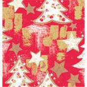 "Gift Wrap Paper, Snowy Christmas Tree, 100'L X 24""W"