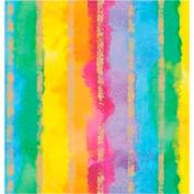 """Gift Wrap Paper, Rainbow Stripe, 100'L X 24""""W"""