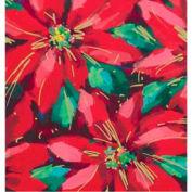 "Gift Wrap Paper, Festive Poinsettias, Ultra Gloss, 833'L X 30""W"