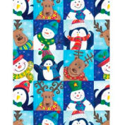 "Gift Wrap Paper, Winter Fun, 100'L X 24""W"