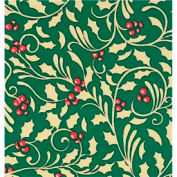 """Gift Wrap Paper, Golden Holly, 833'L X 30""""W"""