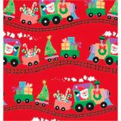 """Gift Wrap Paper, Santa Express, 100'L X 24""""W"""