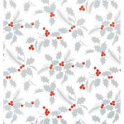 "Gift Wrap Paper, White Holly, Metallized, 833'L X 24""W"