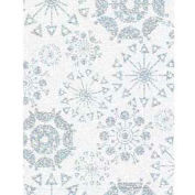 """Gift Wrap Paper, Glittering Snowflakes, Holographic, 417'L X 24""""W"""