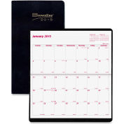 """Brownline® Saddle Stitched Two Year Monthly Planner 6-13/16"""" x 3-13/16"""" x 3/16"""" Assorted"""