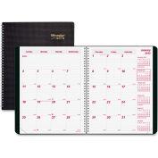 """Rediform Duraflex Dated Monthly Planner 9-5/16"""" x 7-13/16"""" x 5/16"""" Black"""