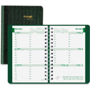 """Rediform Ecologix Twin-wire Weekly Planner 8-3/8"""" x 1/2"""" x 5-13/16"""" Green"""