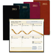 """Rediform Aristo Bonded Leather Weekly Executive Pocket Planners 7"""" x 3-3/8"""" x 3/8"""" Assorted"""