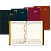"""Rediform Bonded Leather Daily Executive Planner 7-3/8"""" x 5-1/8"""" x 1-1/8"""" Assorted"""