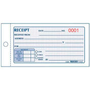 "Rediform® Money Receipt Book, 2-Part, Carbonless, 2-3/4"" x 5"", 50 Sets/Book"